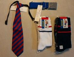 BBHS SOCKS SET OF 5 - SIZE 3, TIE AND BELT - CLASS PREP, 1