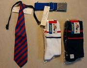 BBHS SOCKS SET OF 5 - SIZE 4, TIE AND BELT - CLASS 2, 3