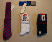 BBHS SOCKS SET OF 5 - SIZE 6, TIE AND BELT - CLASS 6, 7