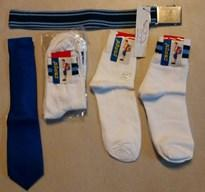 BGHS SOCKS SET OF 5 - SIZE 7, TIE AND BELT - CLASS 8 - 10