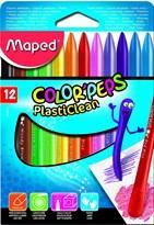 Maped Colour Peps Plasticlean 12 colours